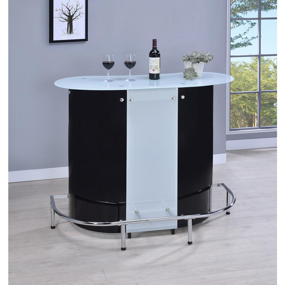 Delicieux Coaster Contemporary Black And White Acrylic Bar Unit 100654   The Home  Depot