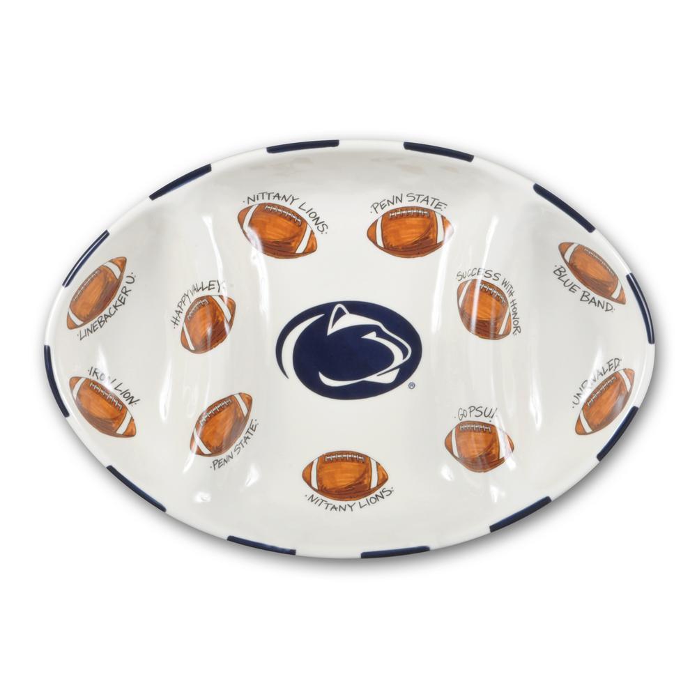 Penn State Ceramic Football Tailgating Platter
