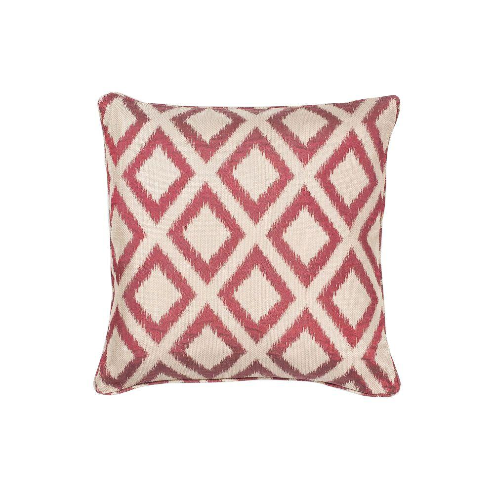 Red Dog Throw Pillows : Kas Rugs Royden Frame Red Decorative Pillow-PILL24318SQ - The Home Depot