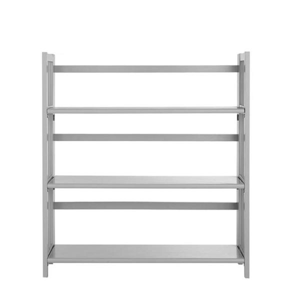 Casual Home Grey Folding/Stacking Open Bookcase 0949520910