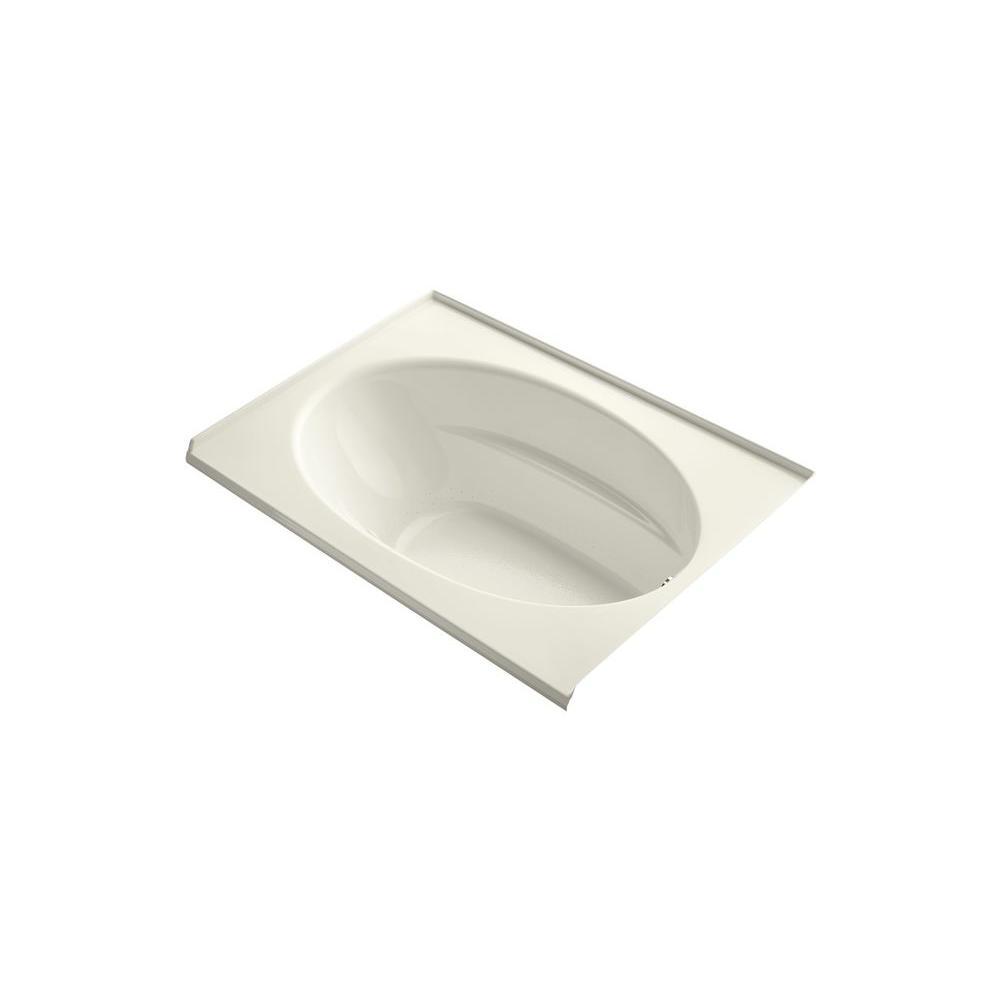 KOHLER Windward 5 ft. Acrylic Oval Drop-in Whirlpool Bathtub in Biscuit