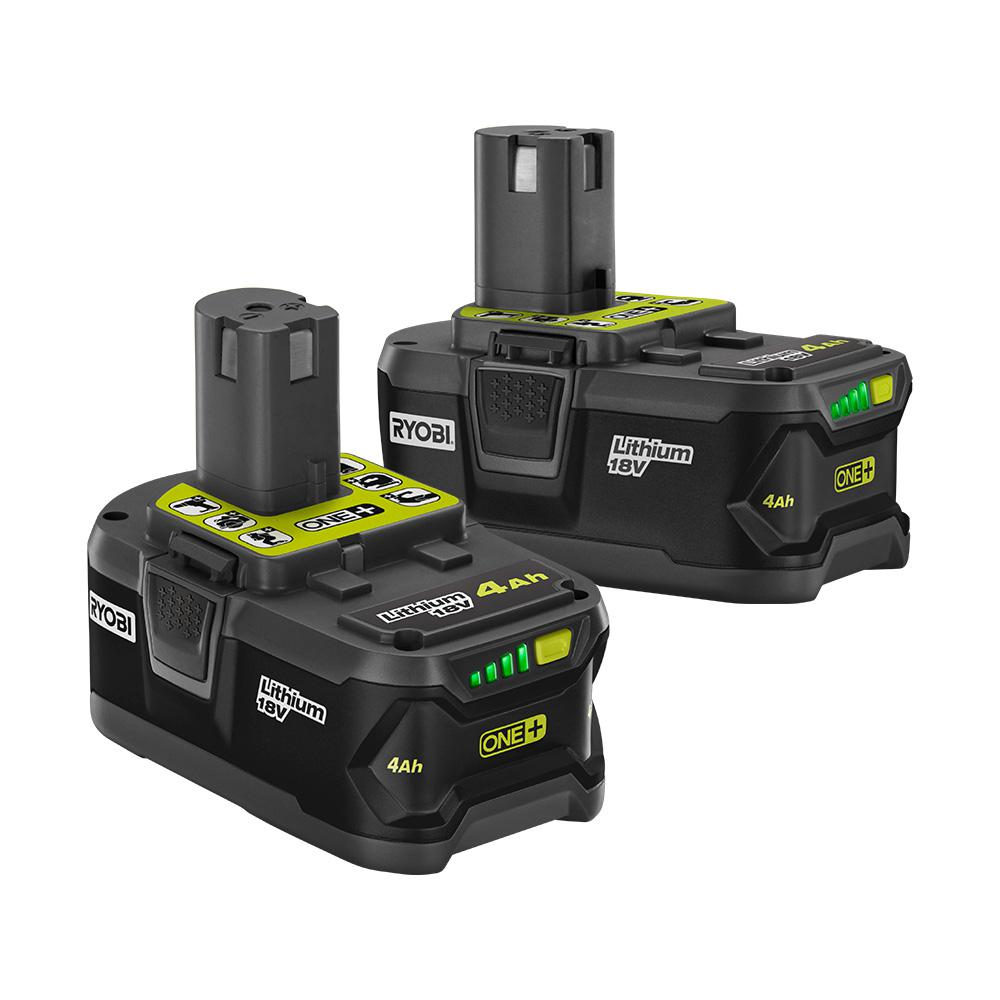 RYOBI RYOBI 18-Volt ONE+ Lithium-Ion Battery Pack 4.0 Ah (2-Pack)