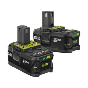 Deals on 2-Pack RYOBI 18-Volt ONE+ 4.0 Ah Lithium-Ion Battery