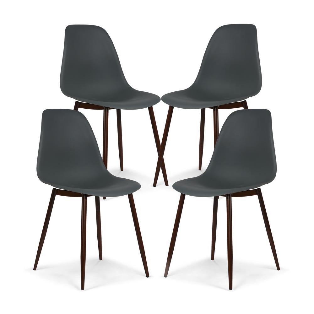 Landon Smoke Gray Sculpted Dining Chair (Set of 4)