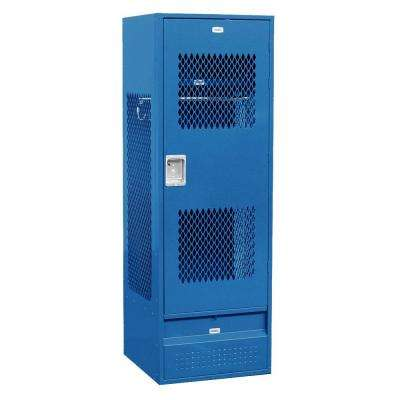 72000 Series 24 in. W x 72 in. H x 24 in. D Gear Metal Locker with Ventilated Door Assembled in Blue
