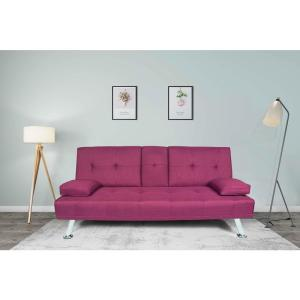 Harper & Bright Designs Contemporary Purple Linen Fabric ...