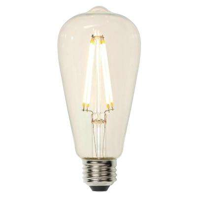 60W Equivalent Soft White ST20 Dimmable Filament LED Light Bulb