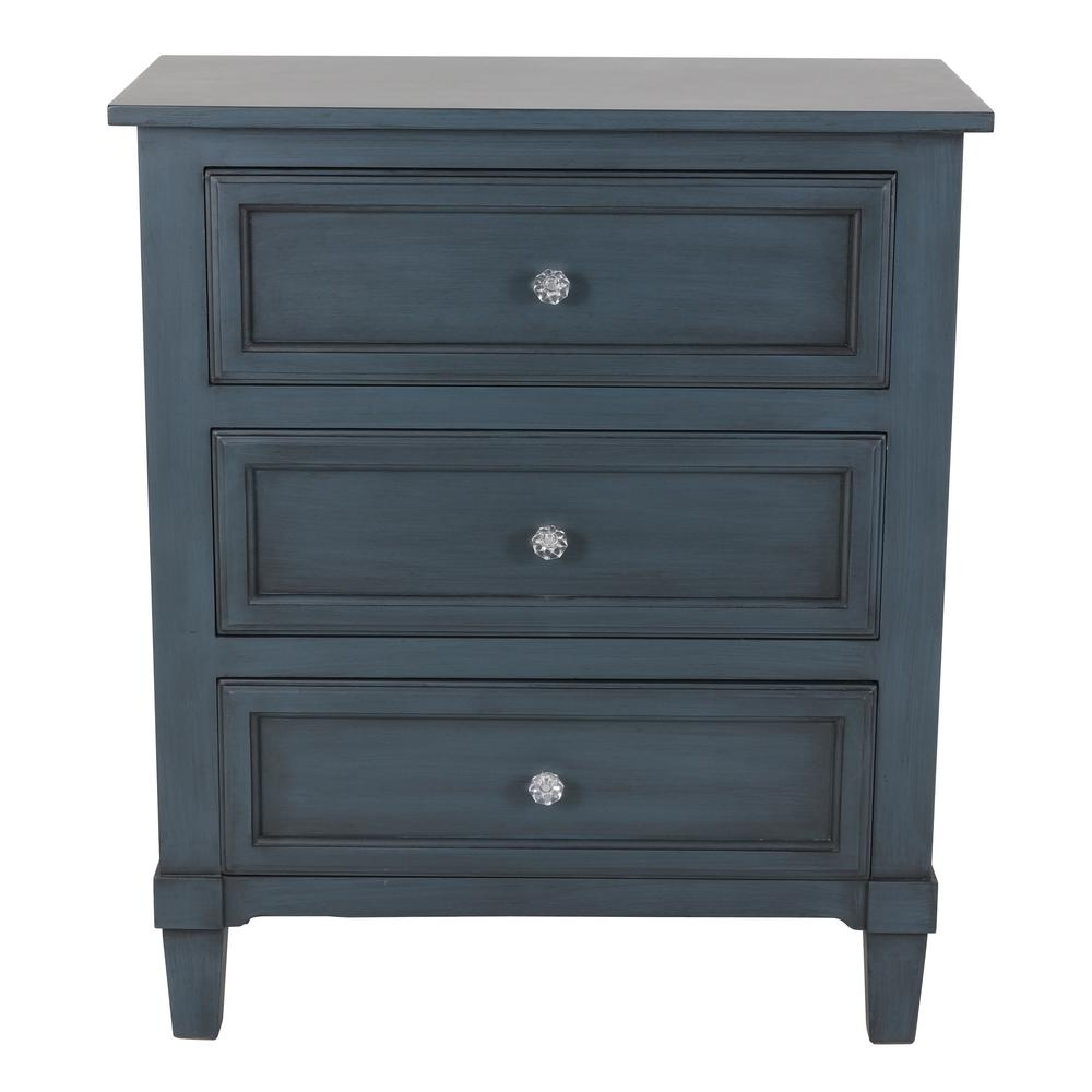 Becket Antique Navy Side Table