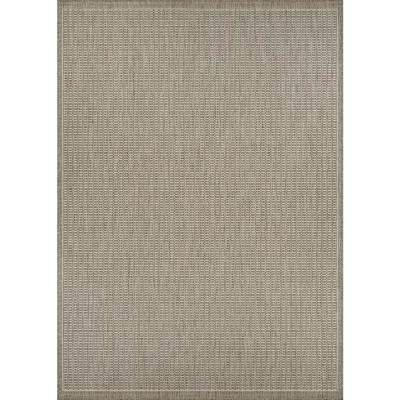 Recife Saddle Stitch Champagne-Taupe 9 ft. x 13 ft. Indoor/Outdoor Area Rug