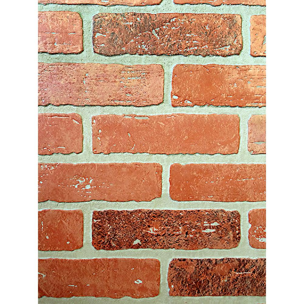1/4 in. x 48 in. x 96 in. Kingston Brick Hardboard Wall Panel