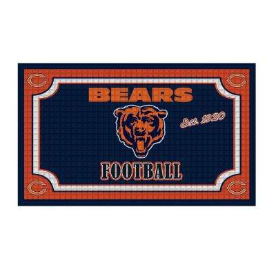 Chicago Bears 18 in. x 30 in. Embossed Welcome Mat