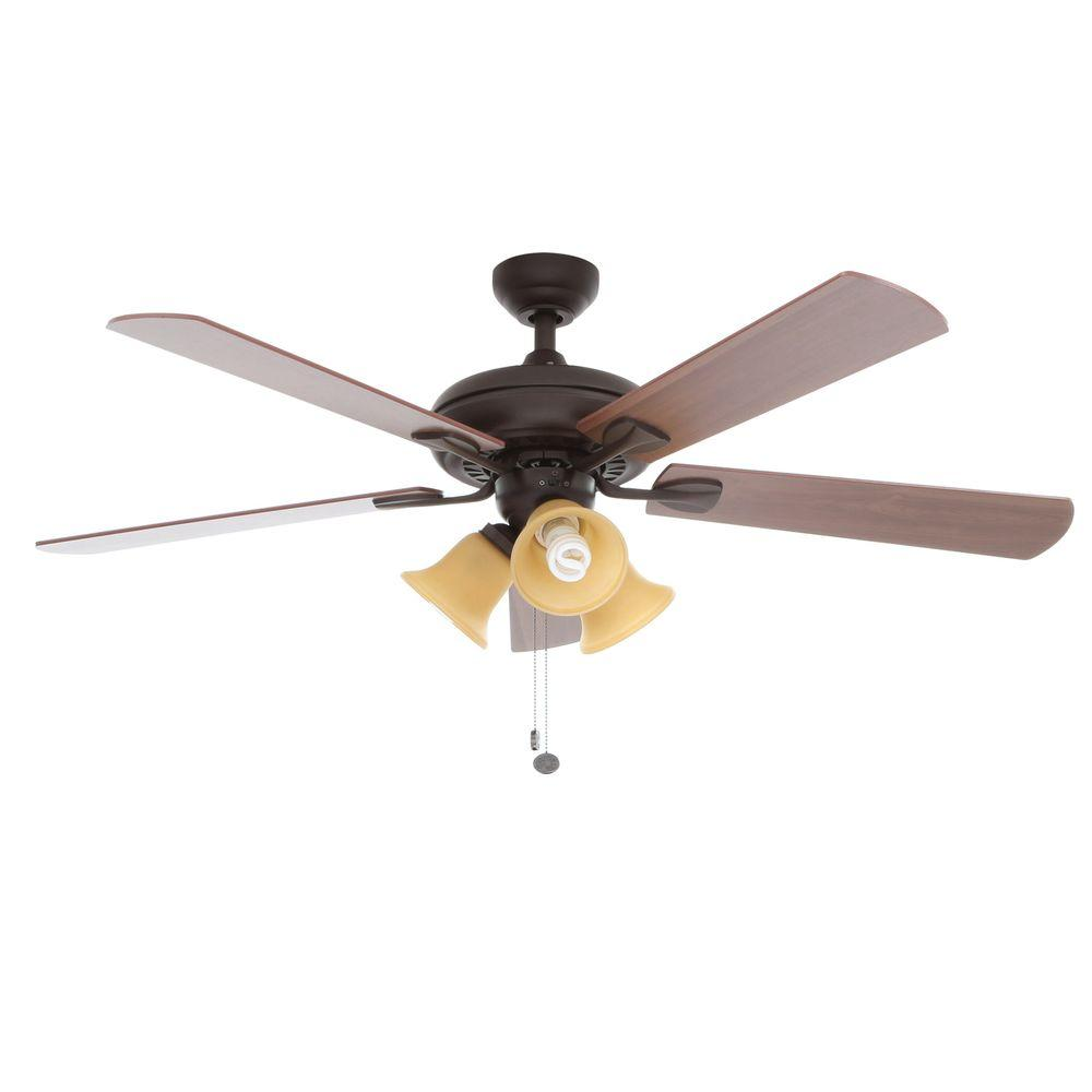 Hampton Bay Scottsdale 52 in. Indoor Oiled Rubbed Bronze Ceiling Fan