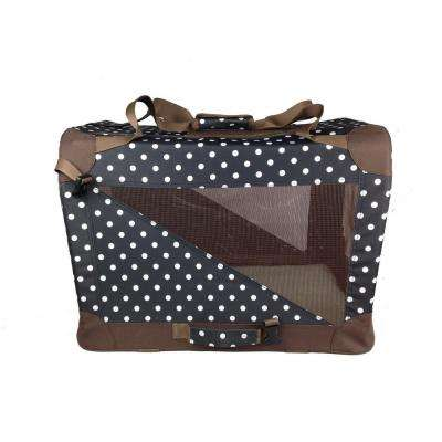 Polka Dot 360 Degree Vista-View Soft Folding Collapsible Crate - Large