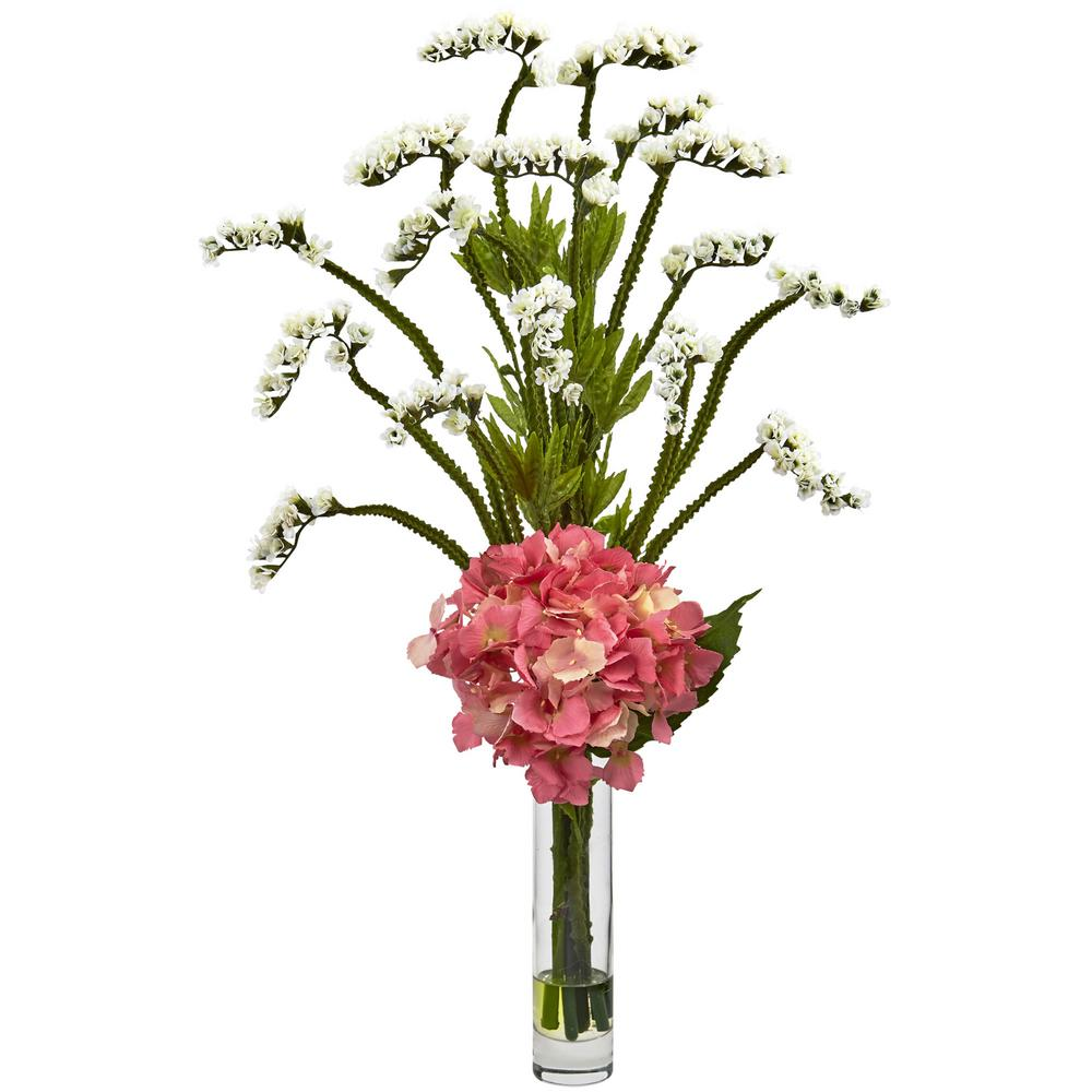 Nearly Natural Hydrangea And Statice Bud Arrangement 1422 Wp The