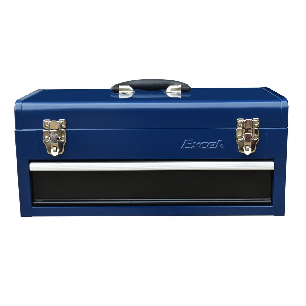 19 in. Portable Steel Tool Box with 1 Ball Bearing Drawer