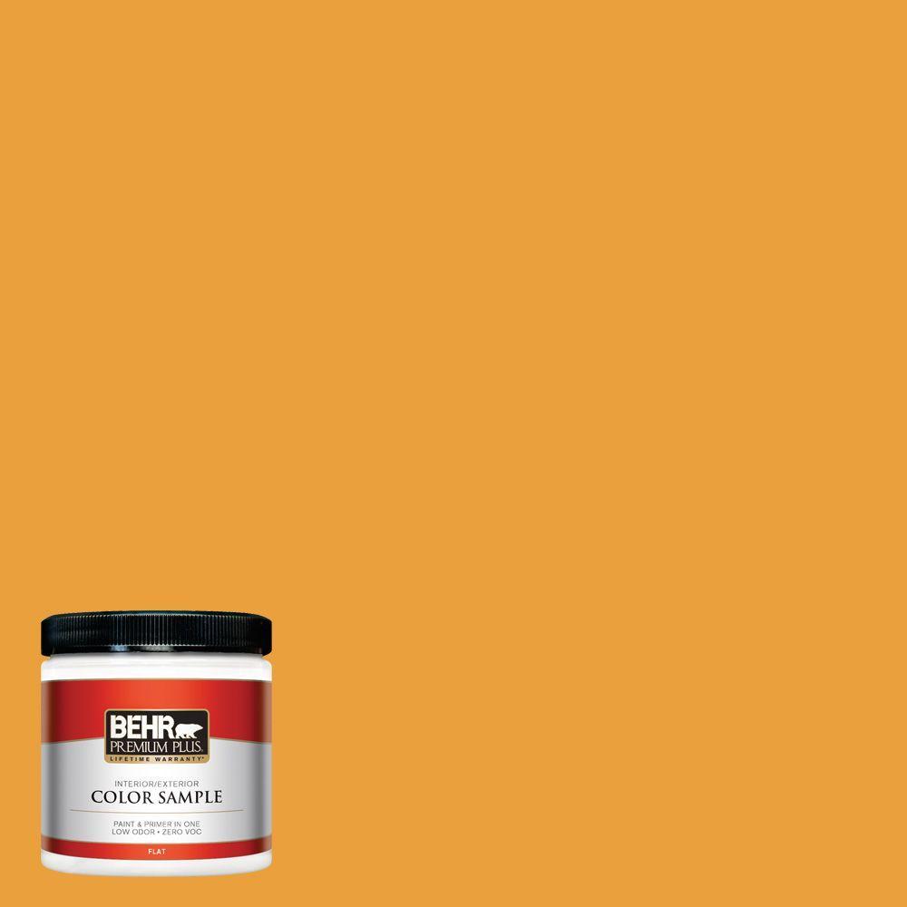8 oz. #HDC-FL14-5 Gilded Leaves Zero VOC Interior/Exterior Paint Sample