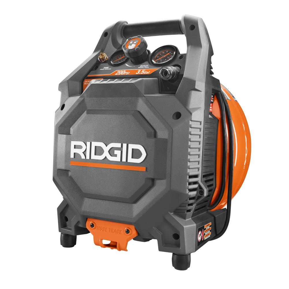 RIDGID 3.5 Gal. 200 PSI Vertical Pancake Compressor