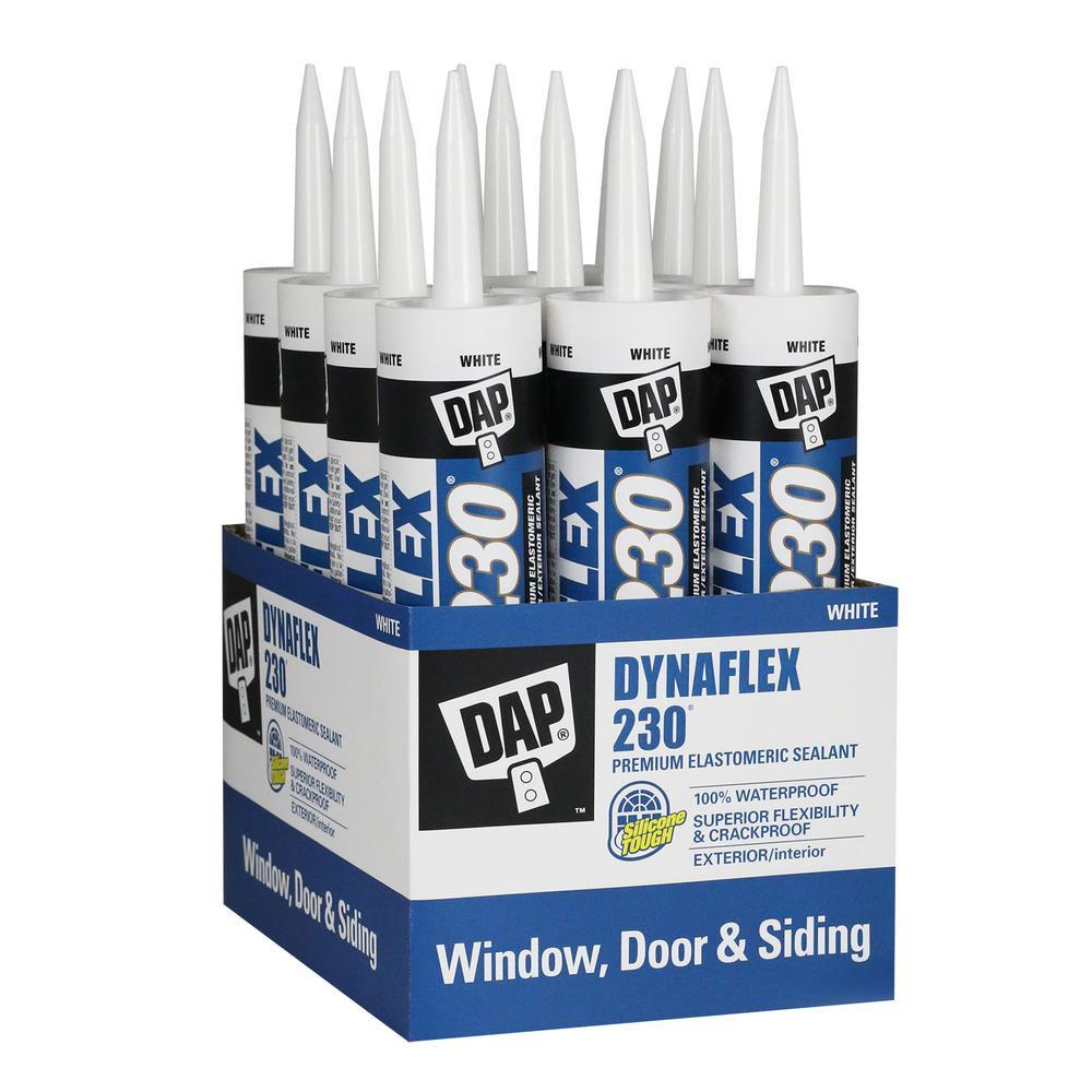 DAP Dynaflex 230 10.1 oz. White Premium Indoor/Outdoor Sealant (12-Pack)