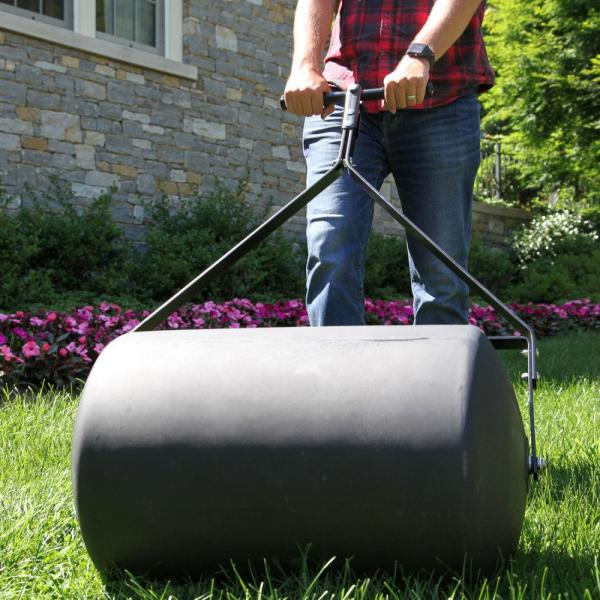 Brinly Hardy 18 In X 24 In 270 Lb Combination Push Tow Poly Lawn Roller Prc 24bh The Home Depot