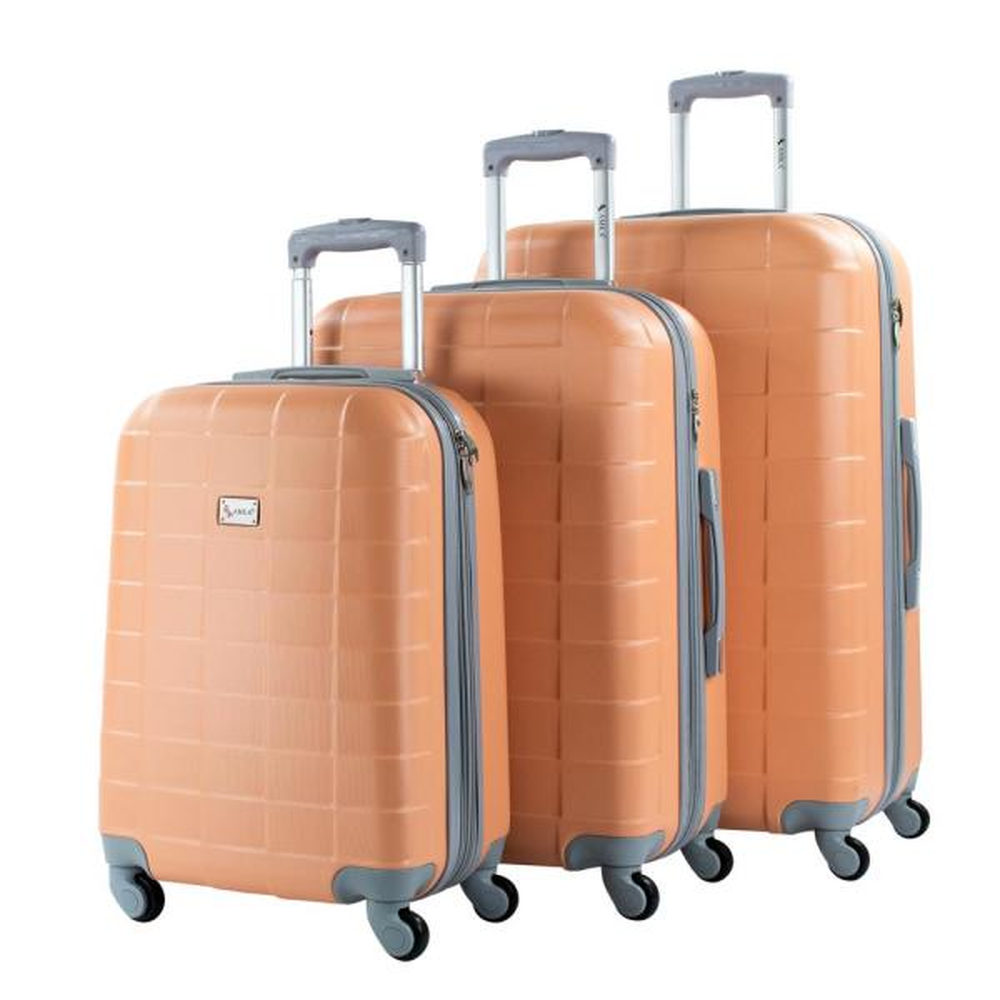 AMKA Palette Peach 3-Piece Expandable Hardside Spinner Luggage Set 995/3E-PEACH