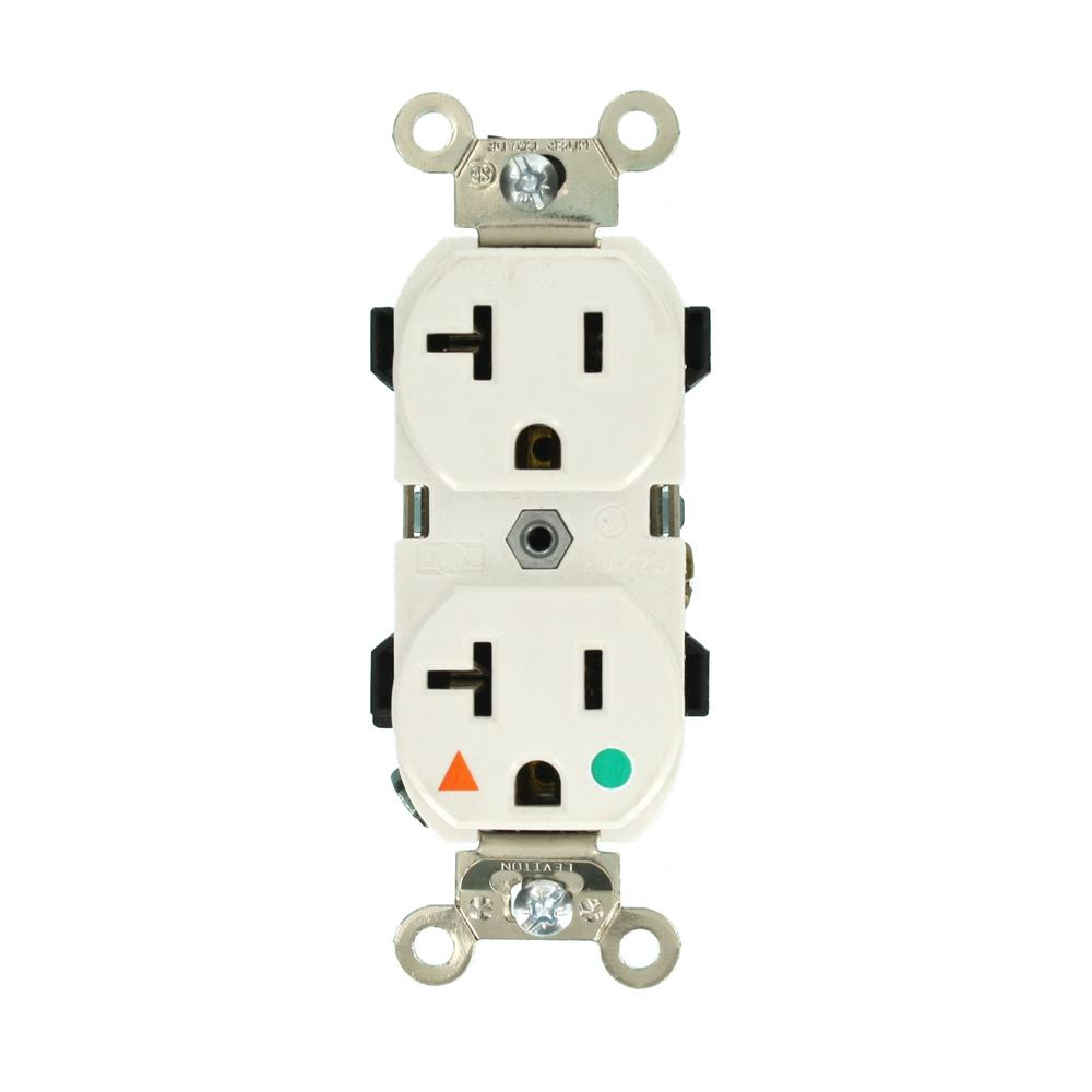 20 Amp Hospital Grade Extra Heavy Duty Isolated Ground Duplex Outlet,