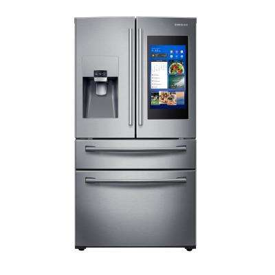 27.7 cu. ft. Family Hub 4-Door French Door Smart Refrigerator in Stainless Steel