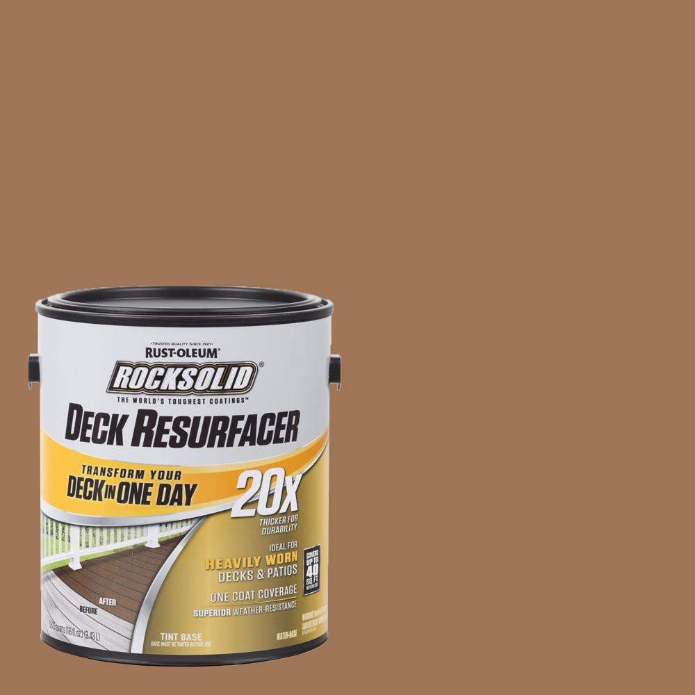 Rust-Oleum RockSolid 1 gal. Saddle Exterior 20X Deck Resurfacer