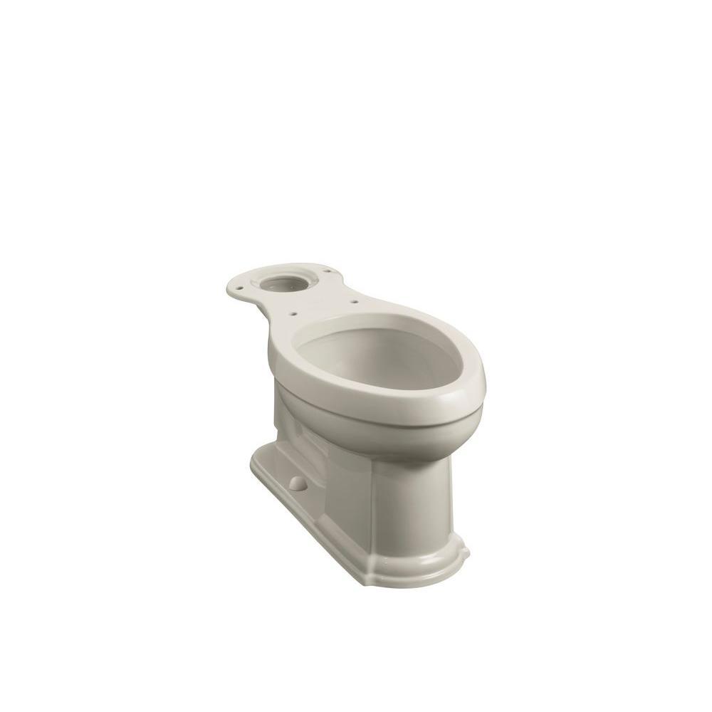 KOHLER Devonshire Comfort Height Elongated Toilet Bowl Only in Sandbar