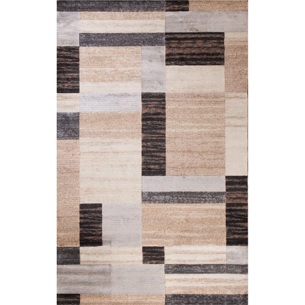 Concord Global Trading Matrix Collection City Blocks 6 ft. 7 in. x 9 ft. 6 in. Area Rug