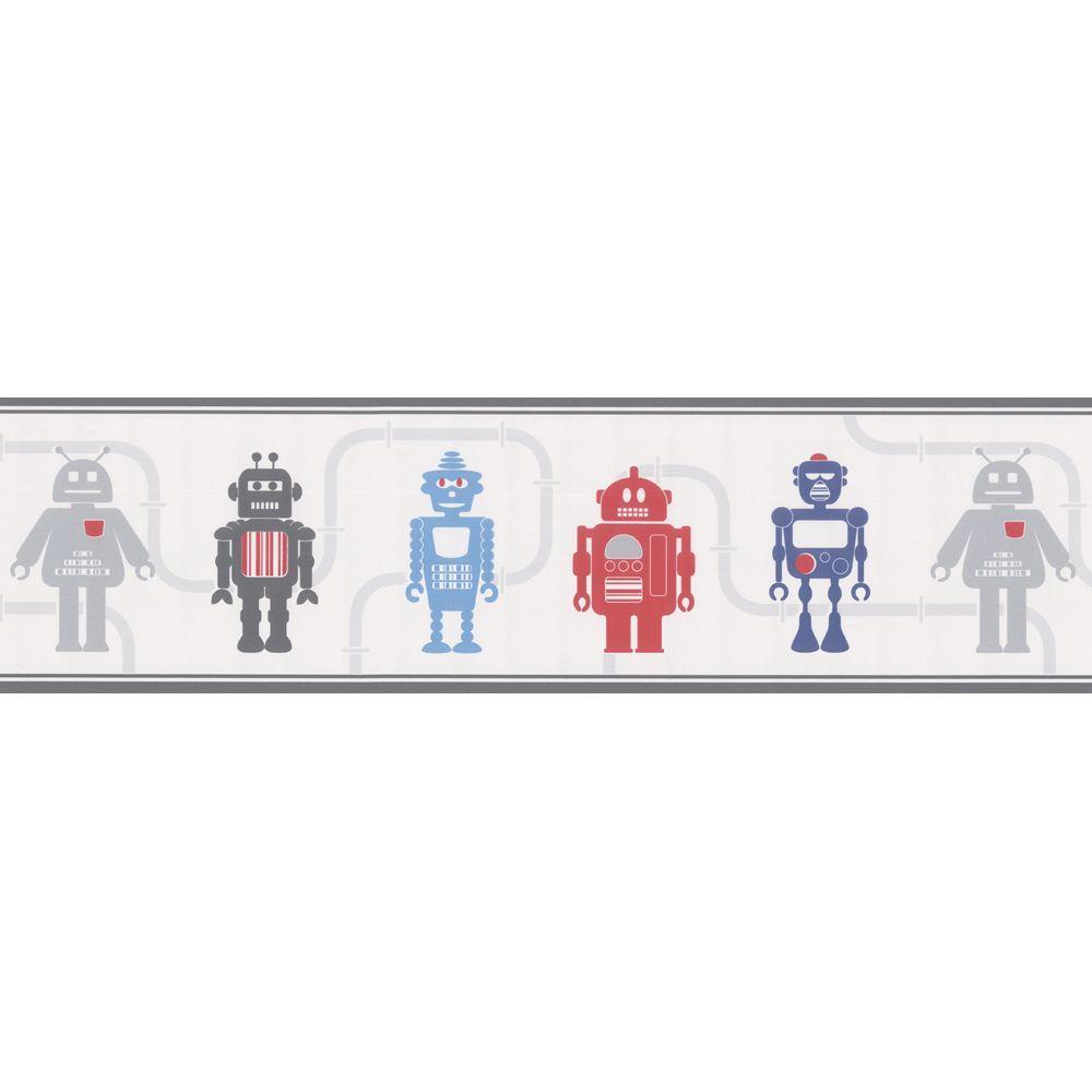 Kids World Robot Wallpaper Border
