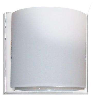Reyna 1-Light Polished Chrome Vanity Light with Frosted Glass