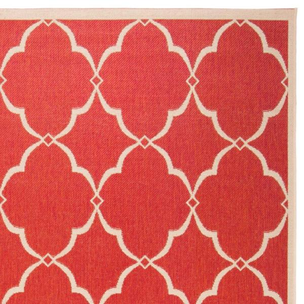 Safavieh Linden Red Cream 8 Ft X 10 Ft Area Rug Lnd125q 8 The Home Depot
