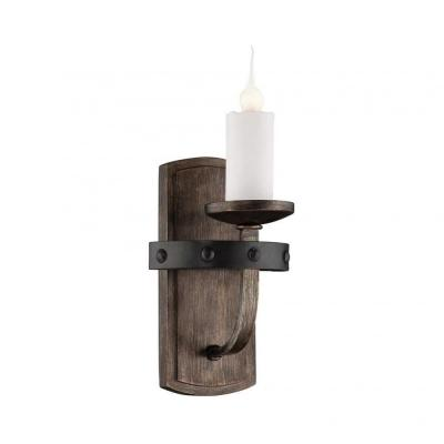 Aumbrie Reclaimed Wood Wall Sconce