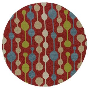 Kaleen Home and Porch Light Red 7 ft. 9 inch Indoor/Outdoor Round Area Rug by Kaleen
