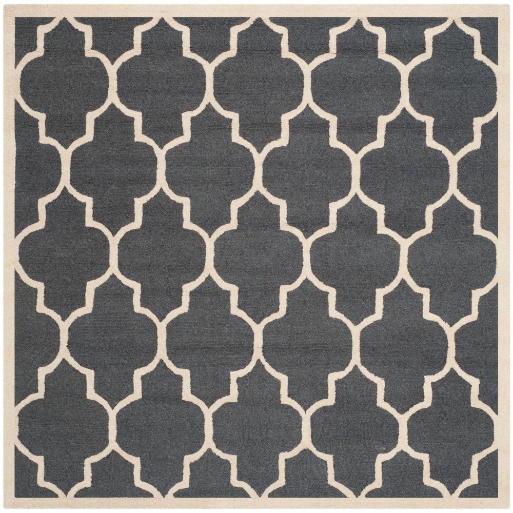 Cambridge Dark Gray/Ivory 10 ft. x 10 ft. Square Area Rug