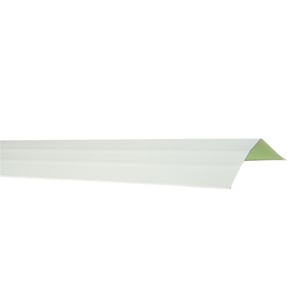 Gibraltar Building Products 10 ft. Aluminum Gutter Apron Flashing in Birch White