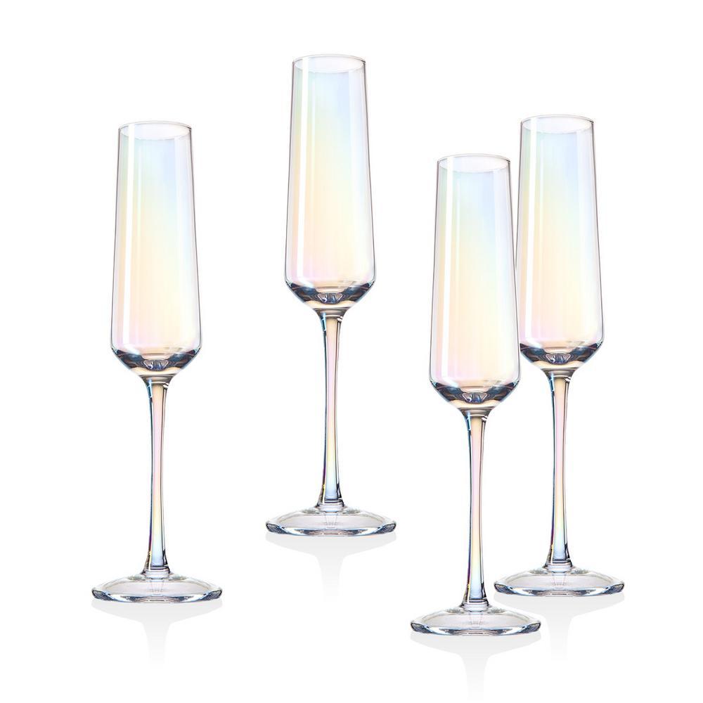 Monterey 6 oz. Crystal Champagne Flutes (Set of 4)