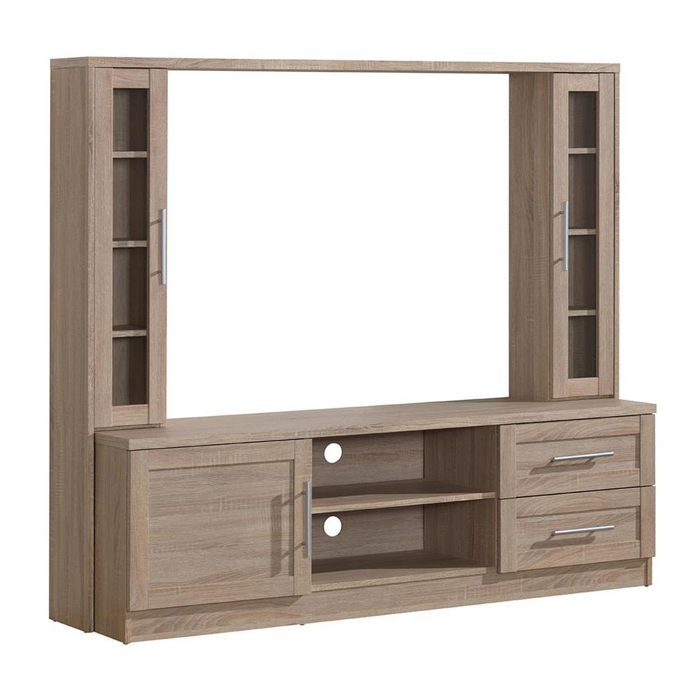 Techni Mobili Sand (Brown) Entertainment Center with Stor...