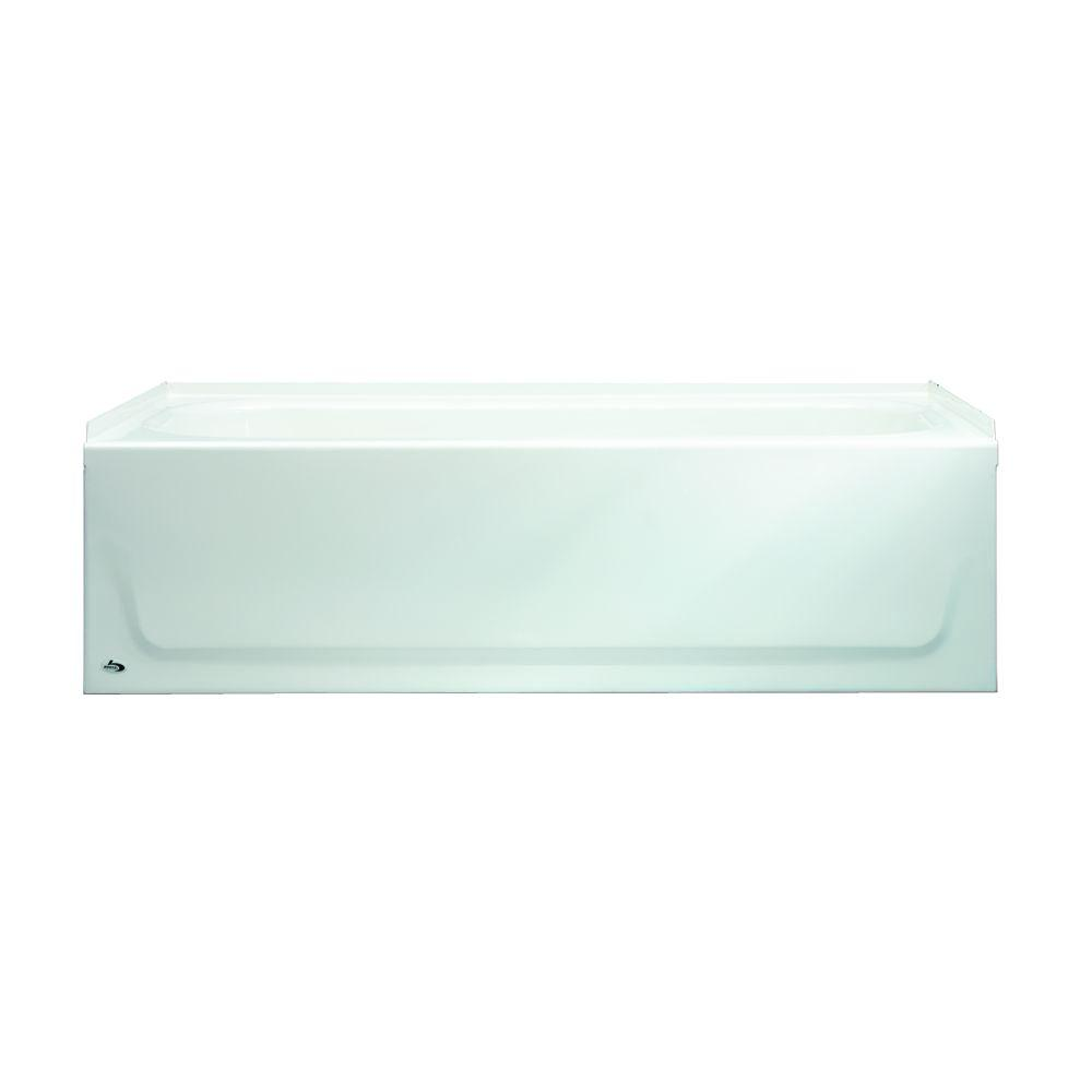 Aloha AFR 60 in. Left Drain Raised Outlet Rectangular Alcove Soaking