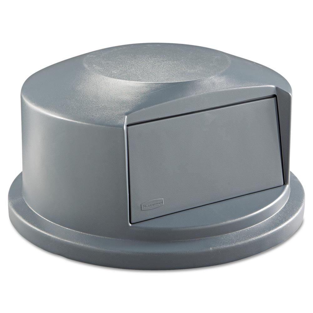 35cd5b8ab1d Rubbermaid Commercial Products Brute 44 Gal. Grey Round Trash Can ...