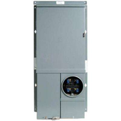 Homeline 200 Amp 12-Space 12-Circuit Combination Meter Socket and Main Lug Load Center