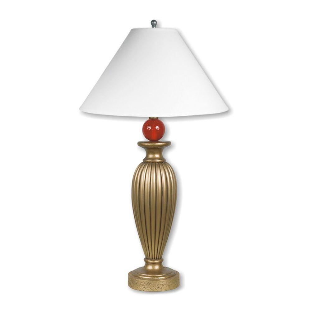 ORE International 31 in. Poly Gold Table Lamp