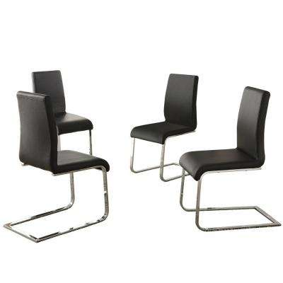 Harston Black Faux Leather Dining Chair (Set Of 4)