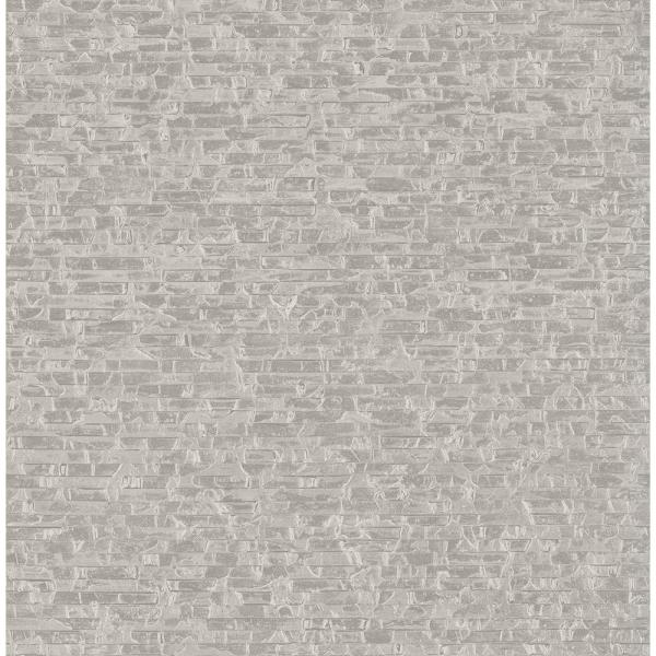 A-Street 56.4 sq. ft. Belvedere Grey Faux Slate Wallpaper