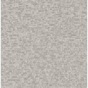 8 in. x 10 in. Belvedere Grey Faux Slate Wallpaper Sample