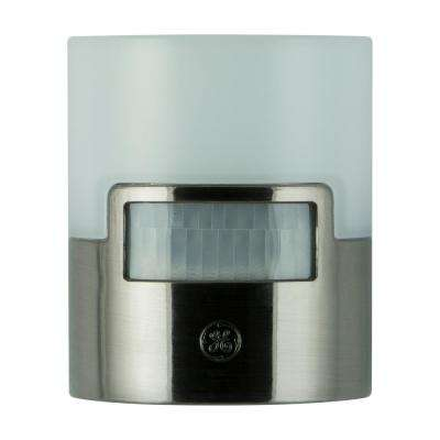 Brushed Nickel Motion Activated LED Night Light