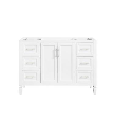 Stockham 48 in. W x 21-1/2 in. D Bathroom Vanity Cabinet Only in White