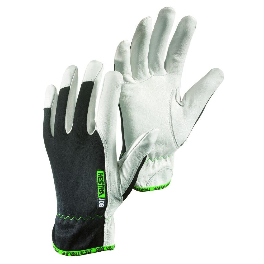 Hestra JOB Kobolt Size 6 X-Small Goatskin Leather Palm Reinforced Fingers Glove in White and Black