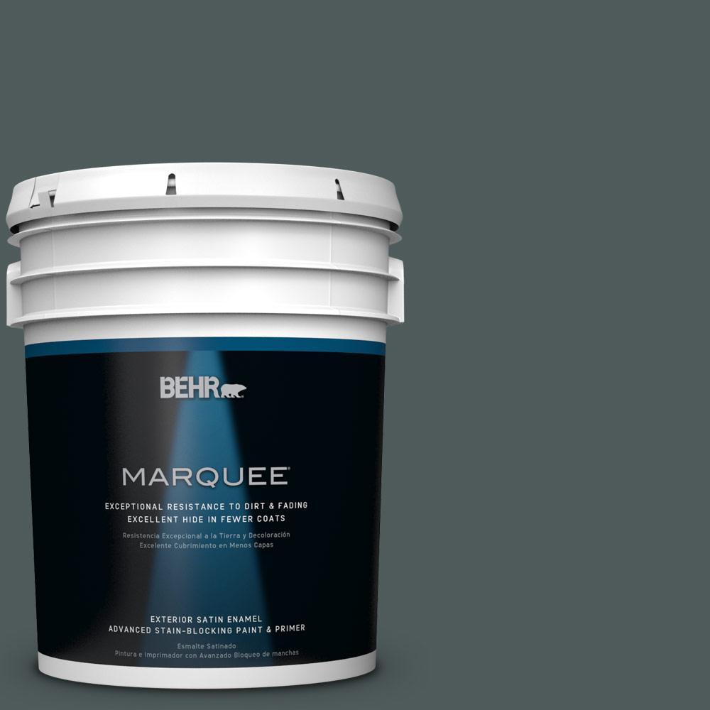 BEHR MARQUEE 5-gal. #N440-7 Midnight in NY Satin Enamel Exterior Paint