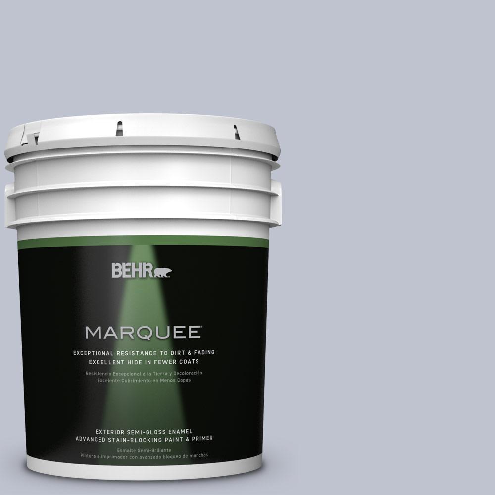 BEHR MARQUEE 5-gal. #S550-2 Powder Lilac Semi-Gloss Enamel Exterior Paint